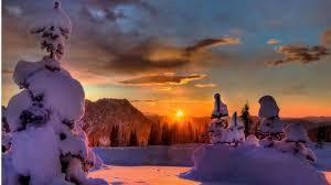winter splendid winter sunset dressed beautiful blanket snow sky