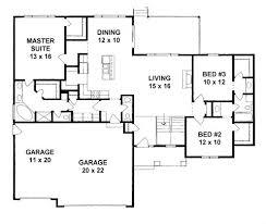 plan 1650 3 bed ranch with split bedroom suites