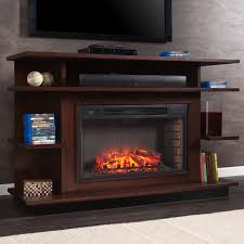 wooden electric fireplace free standing tv stand remote control