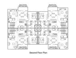 floor plans for units beautiful 4 unit apartment building plans ideas interior design
