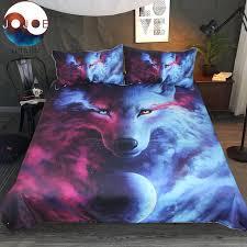 wolf bed set where light and dark meet by jojoes bedding set wolf 3d duvet