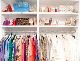 alluring white clothes closet design inspiration with two level