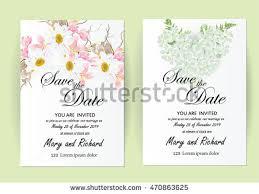 wedding invitation card template decorate hand stock vector