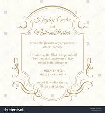 Wedding Invitations Hotel Accommodation Cards Graphic Design Page Wedding Invitation Calligraphic Stock Vector
