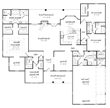 decor 5 bedroom ranch house plans open concept floor for alluring