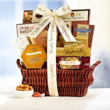 sympathy basket with deepest sympathy gift basket gift baskets food