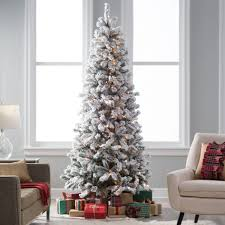 tree pre lit flocked tree shop vickerman ft