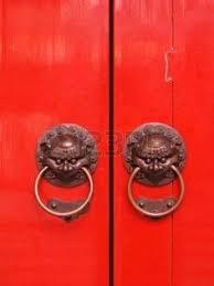foo dog door knocker lucky china fengshui brass lion mask door