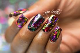 tutorial nail art foil lacquer lockdown scattered holographic foil nail art tutorial