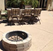 a built in bbq and fire pit install az landscape creations