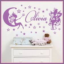 aliexpress com buy customer made fairies stars personalized aliexpress com buy customer made fairies stars personalized name personal stickers nursery vinyl wall decals decor you choose name and color from