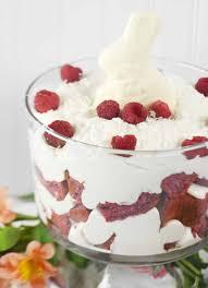 white chocolate raspberry bunny fluff trifle sprinkle some fun