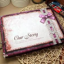 inexpensive photo albums 30 sheets 10in handmade diy photo album bowknot gift family