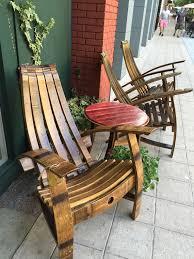 Composite Adirondack Rocking Chairs White Wine Barrel Adirondack Rocking Chair Kit By Wineochairco