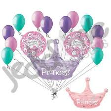 large birthday balloons princess crown happy birthday balloon bouquet jeckaroonie balloons