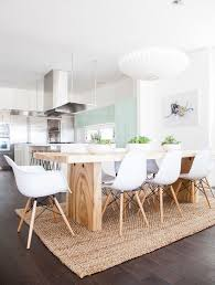 Classic White Interior Design Contemporary Dining Room With Pendant Light By Orlando Soria