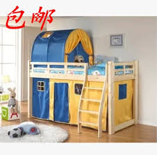 children bed pine wooden bed crib high bed princess prince with