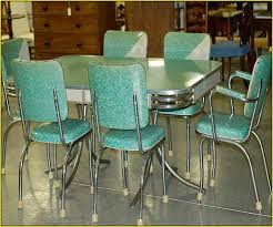 Stunning  Metal Kitchen Tables And Chairs Decorating - Vintage metal kitchen table