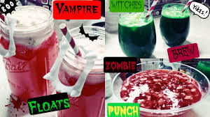how to make diy halloween party drinks youtube