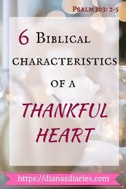 6 biblical characteristics of a thankful bible