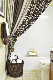 curtain ideas for bathroom hanging shower curtains to small bathroom look bigger