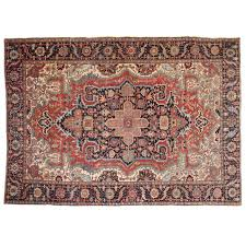 Fine Persian Rugs Fine Antique Heriz Persian Rug With Serapi Colors Early 20th Century