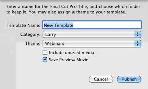 fcp x delete add custom templates larry jordan