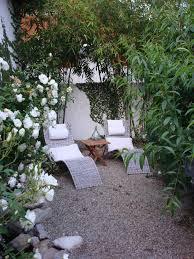 pea gravel landscape contemporary with garden wall bamboo