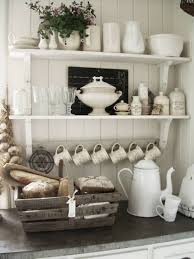 open shelves storage for organize a small kitchen small space