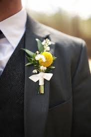 wedding flowers groom charcoal grey suit and awesome wool vest with touch of yellow in