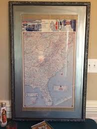 california map framed vintage california map 1921 the salton sea still had water then