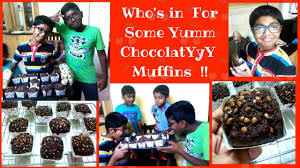 moist chocolate muffins by junior chef yash diy quick and easy