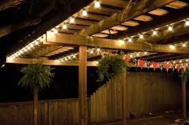 Patio Hanging Lights Outdoor Deck String Lighting Also How To Hang Lights On Ideas
