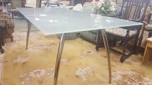 Dining Room Furniture Glasgow Chrome U0026 Glass Dining Table In Bearsden Glasgow Gumtree