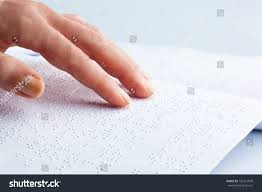 How Do Blind People Read Braille Fingers Braille Blind People Read Book Stock Photo 102214600
