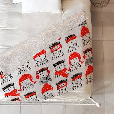 shop deny designs holiday characters blanket at lowes com