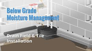 drain field drain tile installation with mti floor edging and