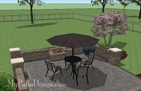 Brick Patio Diy Diy Square Brick Patio Design With Fire Pit Downloadable Plan