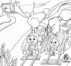 train engine thomas tank coloring pictures printable train