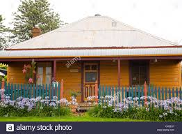 traditional style rural australian bungalow home with tin sheet