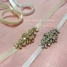 Wedding Dress Sashes Bridesmaid Sashes Skinny Bridal Satin Sash Crystal Wedding Belts
