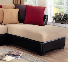 Microfiber Sofa Sectionals Modern Microfiber Sectional Sofa Vinyl Base 501895 Beige Dark Brown