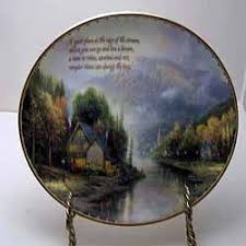 13 best kinkade by the sea plates images on