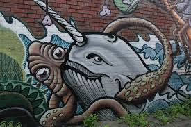10 graffiti murals that bring wildlife to the urban jungle art narwhal graffiti 2014 04 08