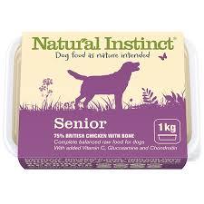 raw senior dog food natural instinct raw dog food