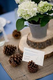 wedding reception table centerpieces 25 budget friendly rustic winter pinecone wedding ideas deer
