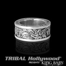 old rings silver images Old west scroll engraved silver mens ring by king baby jpg