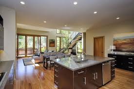 California Kitchen Design by Architecture Exposed Wooden Floor Design Marble Kitchen