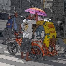 philippines taxi philippines 870 bicycle taxi painting by rolf bertram