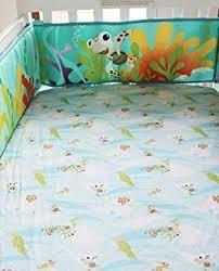 Crib Bedding Set With Bumper New Baby Boy Neutral Animal Ocean Nemo 11pcs Crib Bedding Set